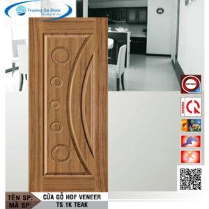 Cửa gỗ HDF Veneer TS 1K Teak