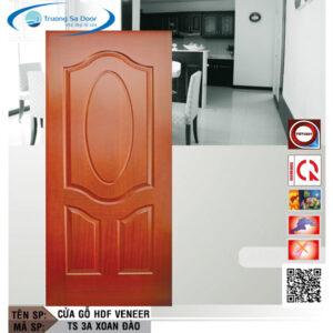 Cửa gỗ HDF Veneer TS 3A Xoan Đào