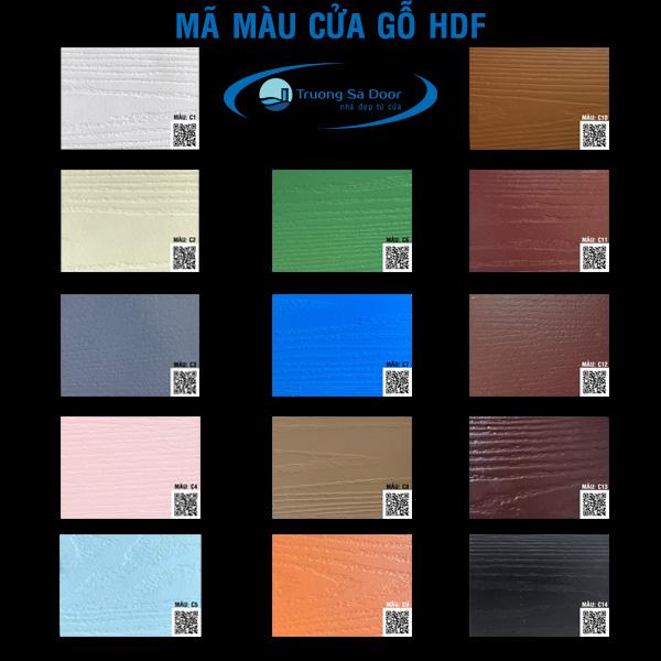 Bảng màu của gỗ hdf