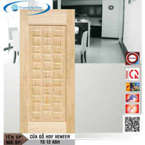 Cửa gỗ HDF Veneer TS 12 Ash