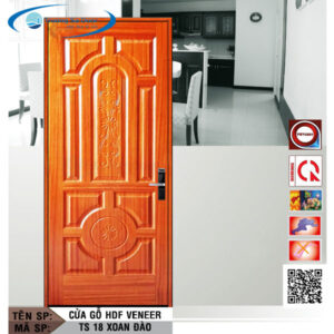 Cửa gỗ HDF Veneer TS 18 Xoan Đào