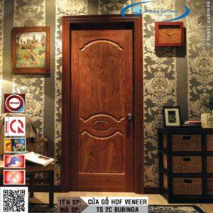Cửa gỗ HDF Veneer TS 2C Bubinga