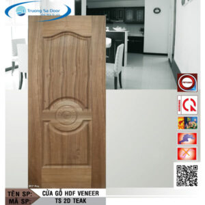Cửa gỗ HDF Veneer TS 2D Teak