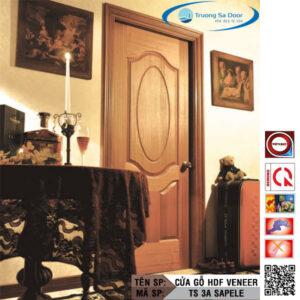 Cửa gỗ HDF Veneer TS 3A Sapele