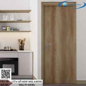 Cửa gỗ MDF Melamine MEL P1 445RL