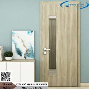 Cửa gỗ MDF Melamine MEL P1GL 404PL