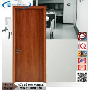 Cửa gỗ MDF Veneer VEN P1 Xoan Đào