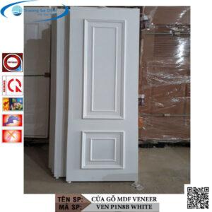 Cửa gỗ MDF Veneer VEN P1N8B White