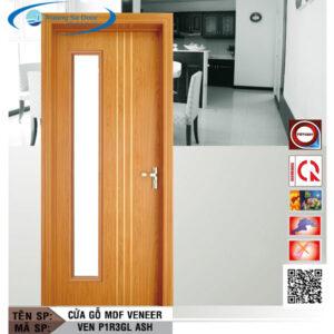 Cửa gỗ MDF Veneer VEN P1R3GL Ash