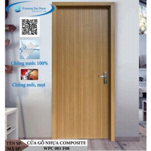 Cửa gỗ nhựa composite WPC 001 F08