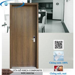 Cửa gỗ nhựa composite WPC 010 F16