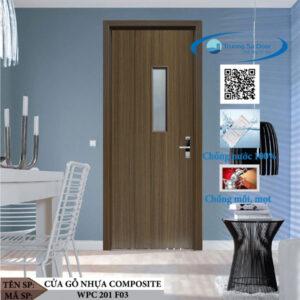 Cửa gỗ nhựa composite WPC 201 F03