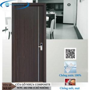Cửa gỗ nhựa composite WPC 202 F06