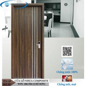Cửa gỗ nhựa composite WPC 206 F04