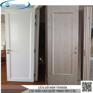 Cửa gỗ MDF Veneer mẫu theo yêu cầu