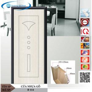 Cửa nhựa gỗ Sung Yu B 114
