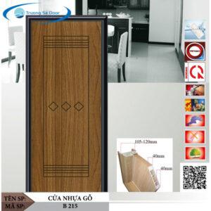 Cửa nhựa gỗ Sung Yu B 215
