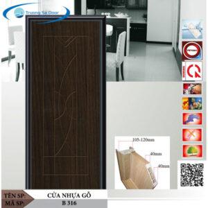 Cửa nhựa gỗ Sung Yu B 316