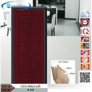 Cửa nhựa gỗ Sung Yu B 418