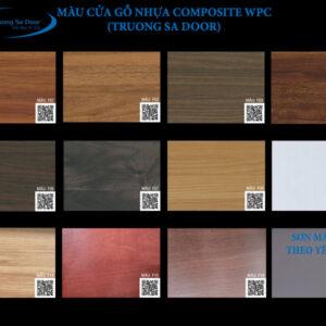 Màu cửa gỗ nhựa composite wpc